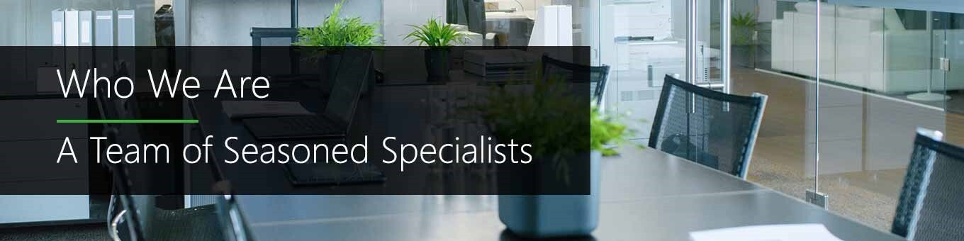 Who We Are - A Team of Seasoned Specialists